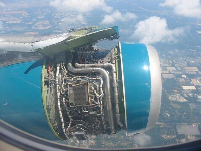 Shroud Missing on Turbofan Engine